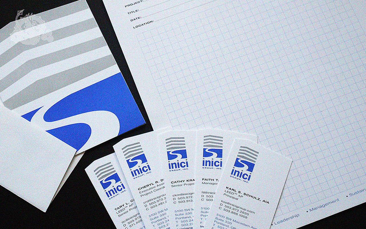 inici group, Identity design, logo design, branding, identity collateral